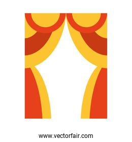 theater curtain icon, flat style