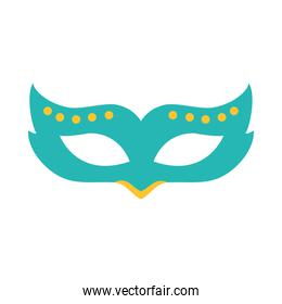 carnival mask icon, flat style