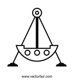 fair ship atracction icon, line style