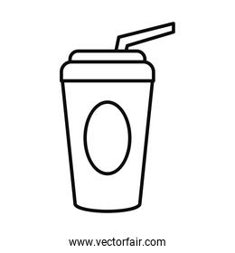 soft drink cup icon, flat style