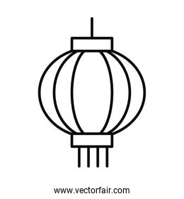 chinese lamp icon, line style