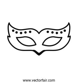 carnival mask icon, line style