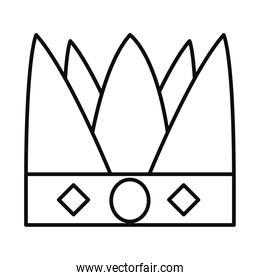 King crown icon, line style