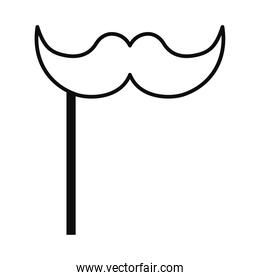 mustache prop icon, flat style