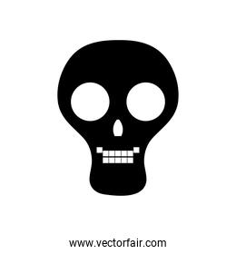 skull icon image, silhouette style
