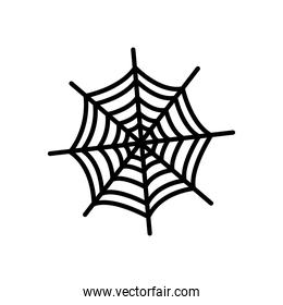 spider web icon, silhouette style
