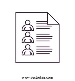 vote paper with options line style icon vector design