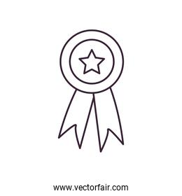 seal stamp with star line style icon vector design