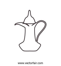 turkish coffee jar line style icon vector design