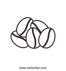 coffee beans line style icon vector design