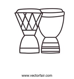 turkish drums line style icon vector design