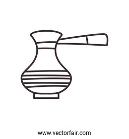 turkish coffee kettle line style icon vector design