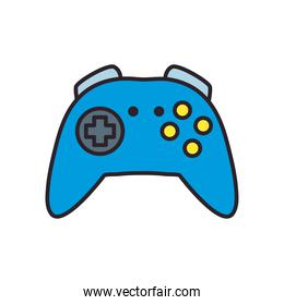 videogame control line and fill style icon vector design