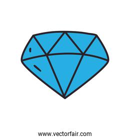 diamond line and fill style icon vector design