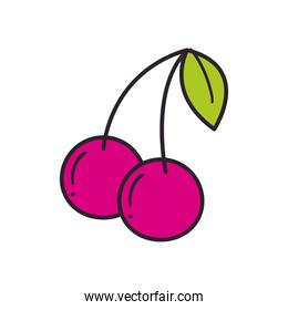 cherry line and fill style icon vector design