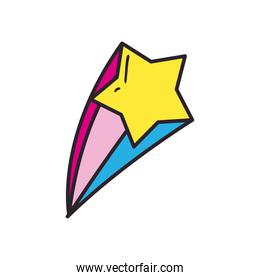 star line and fill style icon vector design