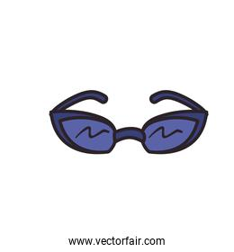 glasses line and fill style icon vector design