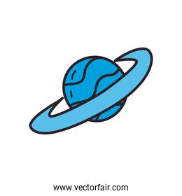 planet line and fill style icon vector design