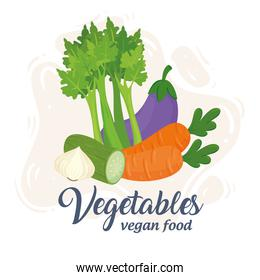 banner with vegetables, concept healthy food