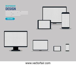 electronic devices, mockup device realistic, template for content