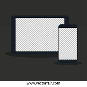 devices electronic, mockup device realistic, template for a content