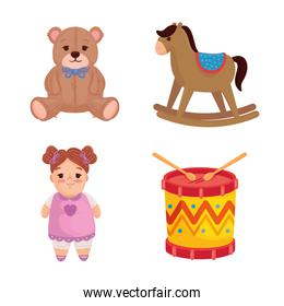 set of cute toys kids