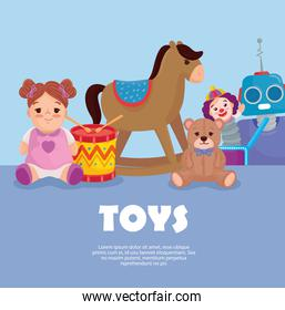 banner and cute kids toys