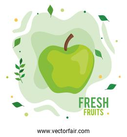 fresh and healthy apple green fruit
