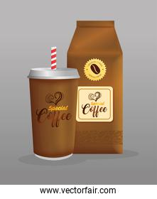 branding mockup coffee shop, restaurant, corporate identity mockup, disposable and bag paper special coffee