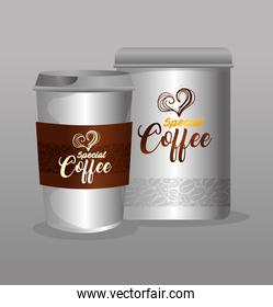 branding mockup coffee shop, restaurant, corporate identity mockup, bottle and disposable special coffee