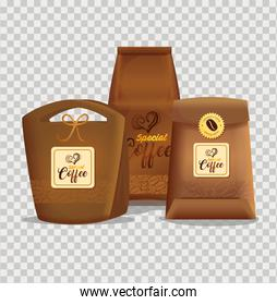 branding mockup set for coffee shop, restaurant, corporate identity mockup, bags paper of special coffee
