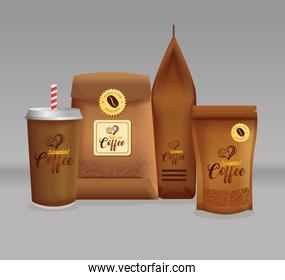 branding mockup set for coffee shop, restaurant, corporate identity mockup, coffee special packages set