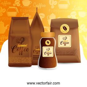 branding mockup set for coffee shop, restaurant, corporate identity mockup, packages coffee special