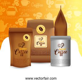 branding mockup set for coffee shop, restaurant, corporate identity mockup, set of packages special coffee