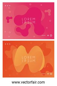 waves and paint pink and orange colors backgrounds