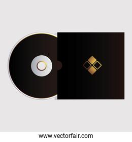 cd, corporate identity template on white background