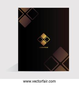 notebook, corporate identity template over white background