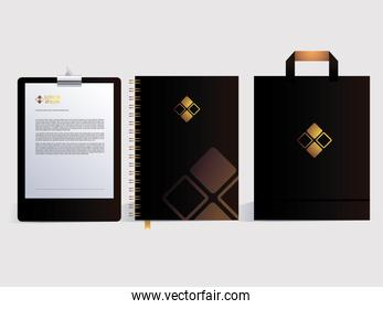 corporate identity for business in white background