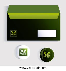 box, corporate identity template on white background