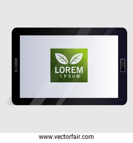 tablet, corporate identity template on white background