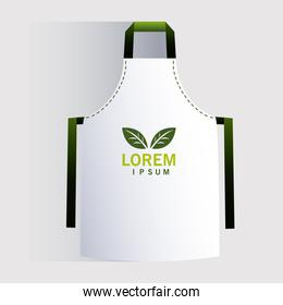apron, corporate identity template on white background
