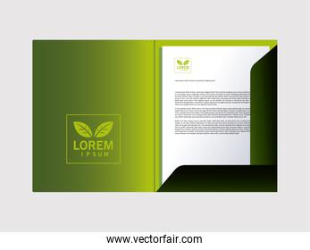 folder, corporate identity template in white background