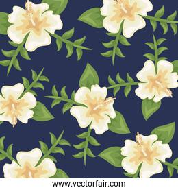 Flowers color cream pattern detailed style