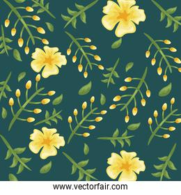 Flowers color yellow pattern detailed style