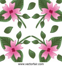 Flowers color pink pattern detailed style