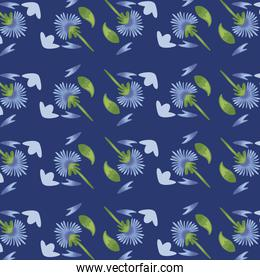 Flowers color purple pattern detailed style