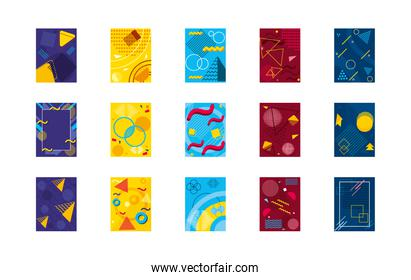 icon set of abstract colorful backgrounds, colorful design