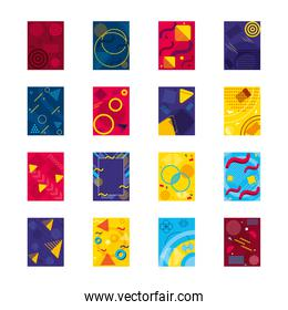 design of abstract backgrounds icon set