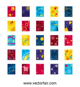 icon set of abstract backgrounds