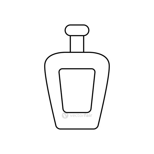 tequila bottle icon, line style